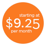 Plans starting at $8.25 per month